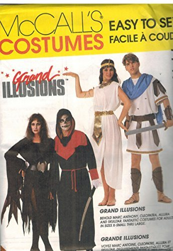 McCall Sewing Pattern 7747 Adult Cleopatra Marc Anthony Halloween Size 36-38