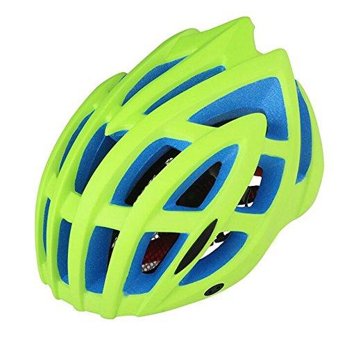 Casco da bicicletta leggero con protezione in bicicletta - taglia unica (56-62 cm), casco rimovibile imbottito per adulti nero