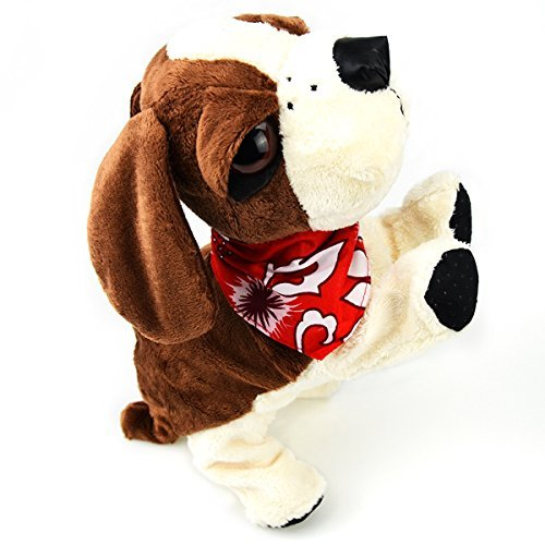 Global-store Interactive Plush Toy Dog, Clap Sound and Touch Control Pet Puppy 8 Movements Bark by Globalstore