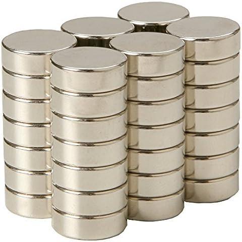 SBS Magnete Al Neodimio 10x2 mm 20 Pezzi Magnete Estremamente Forte
