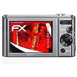 atFoliX Sony DSC-W810 Anti-choc Film Protecteur - 3 x FX-Shock-Antireflex amortisseur anti-éblouissement Anti-casse Protecteur d'écran
