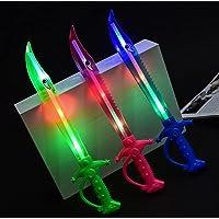Majik LED Light Flashing Musical Sword Toy for Kids (Pink, 1 Pcs)