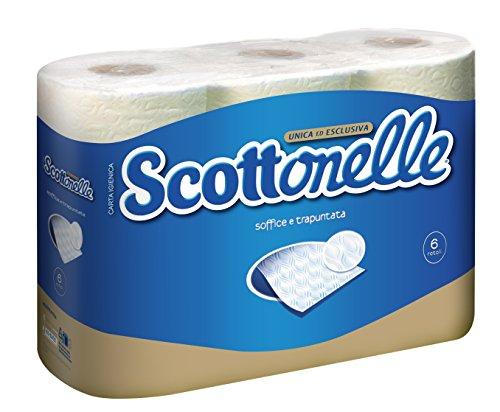 Scottonelle Toilettenpapier, weich, mit Prägung, 6Rollen