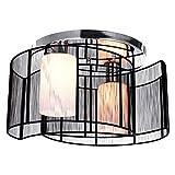 Lightinthebox Deckenleuchte modernes Design 2 Lampenköpfe für Wohnzimmer Schlafzimmer Schwarz