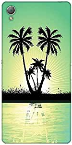 Snoogg Abstract Tropical Background Designer Protective Back Case Cover For S...