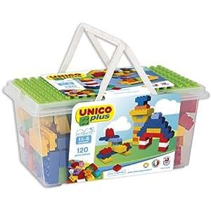 unico plus costruzioni  COSTRUZIONE Unico Base-Cestina 120pz 8502: : Giochi e ...