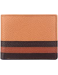 The Clownfish Rider Men's Wallet Genuine Leather Wallets For Men With RFID Protection.(Peanut Brown)