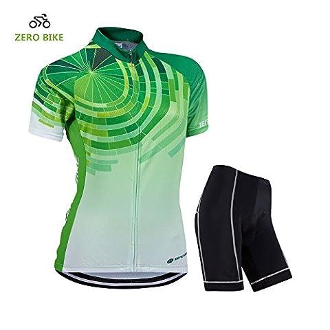 ZEROBIKE Breathable Schnell trocknendes kurzes Radfahren Jersey Fahrrad Fahrrad Jersey Mit gepolsterten Shorts Strumpfhosen für Frauen