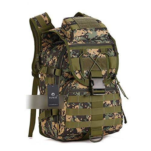 YAAGLE 40L outdoor Reisetasche Rucksack militärisch 14 zoll Laptoptasche Gepäck Schultertasche Sporttasche Tarnung 2