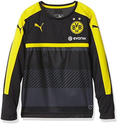 Puma - Camiseta de Manga Larga de Entrenamiento del Borussia Dortmund para Hombre, Otoño-Invierno, Infantil, Color Negro/Amarillo, tamaño 176