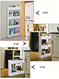BERRY Multipurpose 4 Tire Shelf With Removable Wheels Crack Rack Bathroom Storage Storage Rack Shelf Multi-Layer Refrigerator Side Shelf