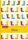 Le cahier d'Alicia - Blanc, 96p, A5 - Bottes de pluie