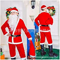 SDLRYF Disfraz De Papá Noel Traje De Navidad Los Hombres Y Mujeres Adultos Santa Claus Traje De Fiesta Uniforme Femenino Adulto Traje De Navidad