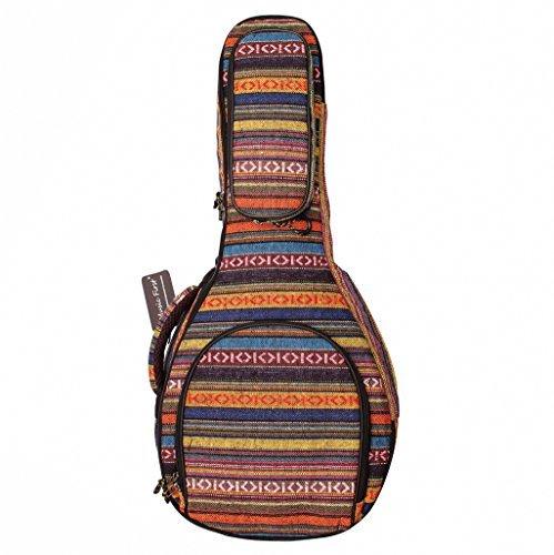 MUSIC FIRST Mandolinenkoffer, gepolsterte Baumwolle, 15 mm dick, Landhausstil, A- & F-Stil (Standard), weiche Hülle, passend für die meisten Mandolinen