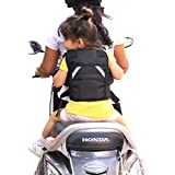 Urban Kings Kids Safety Two Wheeler Seat Belt/Front Standing And Sitting Behind Safety Belt (Black)