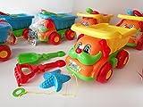 Sandtoys giocattoli da spiaggia giocattolo camion secchio da spiaggia Sabbia Castello Set Auto per Bambini