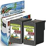 2X Kompatible Tintenpatronen als Ersatz für HP 27 XL 27xl Schwarz Black BK für OfficeJet 4300 Series 5615 5605 4315XI 4315V 4355 Druckerpatronen (Schwarz) 2x27-hp