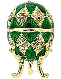 Juliana Green Treasured Trinket Faberge-Style Egg Jewellery Box
