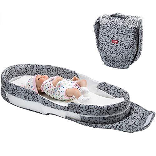 Imagen para Cuna de bebé portátil de algodón suave y transpirable, plegable, para bebés de 0 a 1 año B