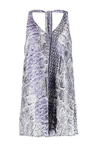 Grau Damen Trixy Coloured Snake Strappy Kleid Grau