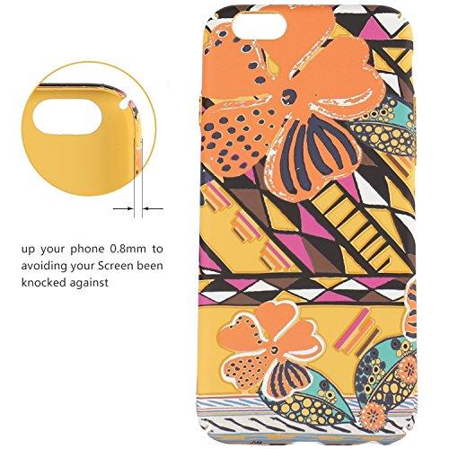 FOGEEK Schutzhülle iPhone 6 Hülle : Leuchtet im Dunkeln Blume gedruckt Matte Ultra Slim und leichte Tasche Schutzhülle für iPhone 6/6s-F - 7
