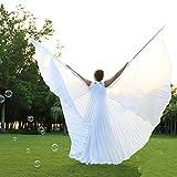 Dance Fairy Blanc Simulé Pure Danse du Ventre soie Ailes d'Isis (avec Bâtons / Baguettes)