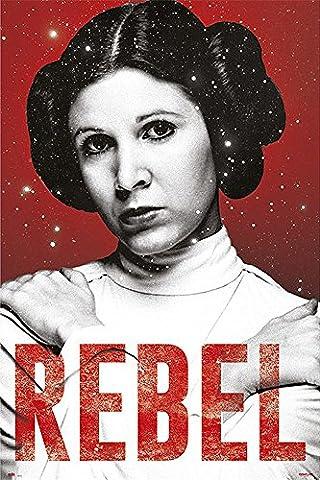 Poster Star Wars - Rebel/Princesse Leia [Carrie Fisher] (61cm x 91,5cm) + un poster Bora Bora en cadeau!