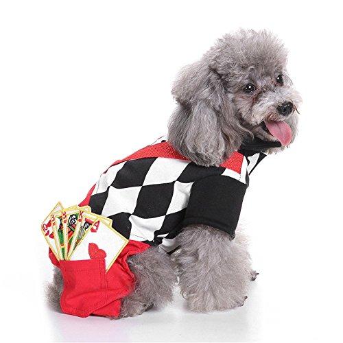 Motige Hundekostüm Halloween Weihnachten Party Cosplay Haustier Kleidung Zauberer Skelett Polizist Gefangene Super Paw (Gefangener Halloween-kostüme Für Hunde)