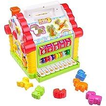 Giocattolo di Apprendimento Casa Musicale per bambini TG665 - La Casa Centro Attività Giochi con luci e suoni – Giocattolo Educativo per i bambini più piccoli creato da ThinkGizmos (marchio protetto)
