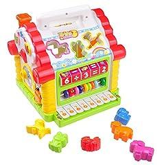 Idea Regalo - Giocattolo di Apprendimento Casa Musicale per bambini TG665 - La Casa Centro Attività Giochi con luci e suoni - Giocattolo Educativo per i bambini più piccoli creato da ThinkGizmos (marchio protetto)