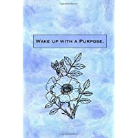 Wake Up With A Purpose: Sketchbook for Artist ~ Funky Novelty Gift for Art Lovers, Small Blank Sketch Book