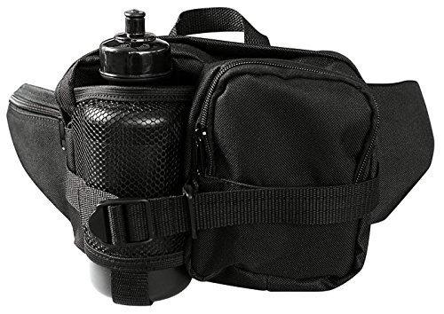 G8DS Hüfttasche Bauchtasche Gürteltasche schwarz inkl. Trinkflasche und verstellbarem Bauchgurt 13511002