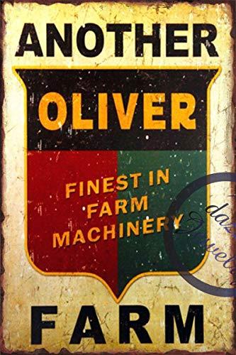 Lustiges Schild Oliver Vintage Metall Blechschild Wandschild Plakat für Zuhause Bad und Cafe Bar Pub, Wanddekoration Auto Fahrzeug Kennzeichen Souvenir 11-22