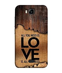 PrintVisa Designer Back Case Cover for Huawei Honor Bee :: Huawei Honor Bee Y5c (Love Lovely Attitude Men Man Manly)