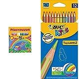 12 Lapices de colores Bic + 12 Ceras Bic
