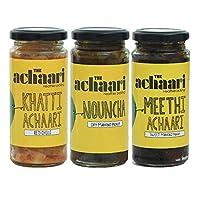 The Achaari Homemade Mango Pickle (Pack of 3) (Khatti Achaari Red Chilli, Nouncha & Meethi Achaari)