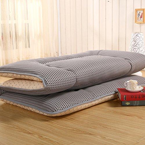 KE & LE Verdicken Sie Tatamimatte Bodenmatratze, Japaner Traditionellen Futonbett Dauerhaft Anti-rutsch Zusammenklappbare Matratze Schlafen Pad-g 180x200x10cm (100 Baumwolle Matratze Pad)