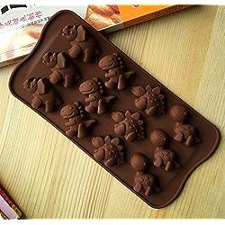 YSHON diseño de animales de dinosaurios Chocolate Cake Cookie molde herramienta molde de silicona para hornear molde herramienta