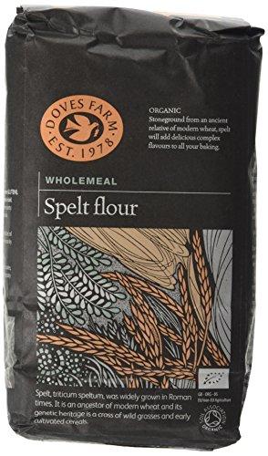 Doves Farm Organic Wholegrain Spelt Flour 1 kg (Pack of 5) Test
