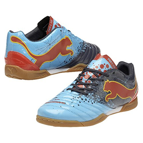 Puma Indoor PowerCat 3.12 Gravity IT fluo blue-new navy-orange.com-team yellow, Größe Puma:13 Orange Blue-puma-schuhe
