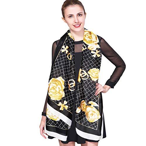 IEverest Pañuelos de Seda Mujer Pañuelos de Protección Solar Estola Chal Seda Suave Gasa de Seda...