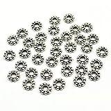 Xinqu 6mm Großhandels100pcs / 200pcs / Lot Gänseblümchen-Blumen-Distanzscheibenperle Metallgoldtibetanische Silberne Distanzscheiben-Korne for die Schmucksachen, die Loch bilden, ist 2mm