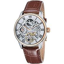 Thomas Earnshaw ES-8006-03 - Reloj para hombre con esfera analógica de color blanco y correa de cuero marrón
