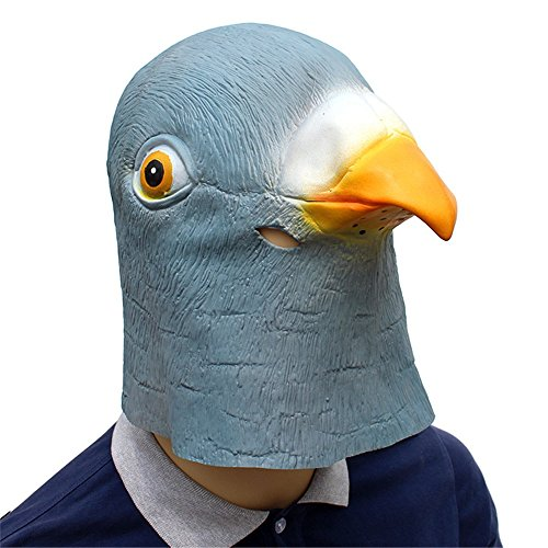Peng sounded Halloween Holiday Party Supplies Latex Maske Taube Styling Hood. (Farbe : Blau)