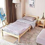 GreenForest Cama individual cama de madera maciza de pino cama de j¨®venes y adultos 90*200cm
