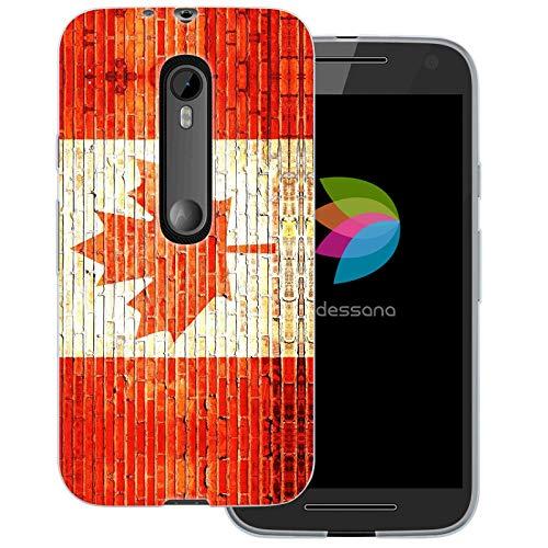 dessana Kanada Transparente Schutzhülle Handy Case Cover Tasche für Motorola Moto G3 Backstein Kanada (Motorola-backstein-handy)