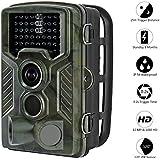 Cámara de Caza Aidodo 16 MP Trail Cámara 1080P HD Cámara Nocturna Caza 49 IR Cámara de vigilancia Con Sensor de infrarrojos IP56 Impermeable Infrarrojo 120 Angulo Amplio Sensor de Movimiento