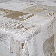 Hule Mantel encerado mesa mantel de hule lavable Industry Style Modern Used Look tamaño a elegir), toalla, sättige, beständige Farben, 160 x 140cm
