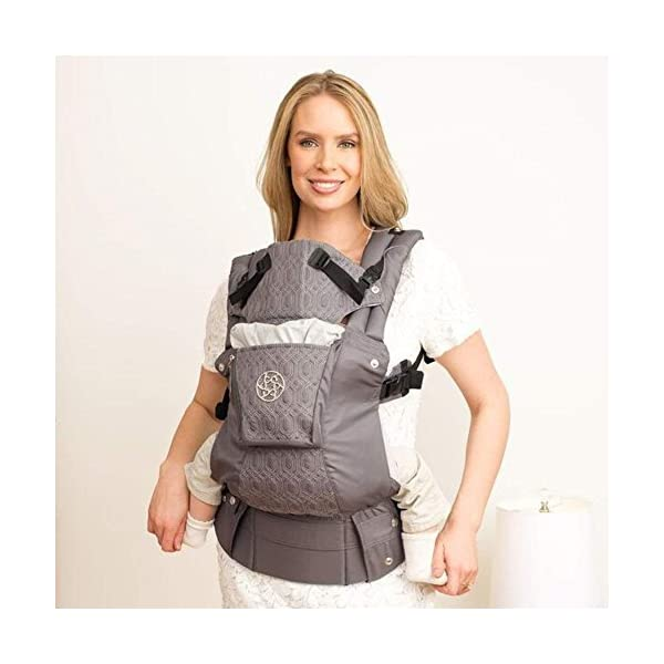 LÍLLÉbaby  Complete Embossed 6-in-1 Baby Carrier, Mystique Grey Lillebaby 6 carrying positions - foetal, infant inward, outward, toddler inward, hip, back Suitable from 3.2- 20kg (birth to approx. 4 years old Luxurious, breathable microfiber 7