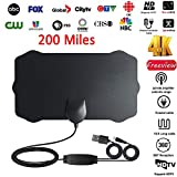 PinShang 200 Mile Range Antenna TV Digital HD Skywire 4K Antena Digital Indoor